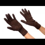 Женские шерстяные перчатки со стразами