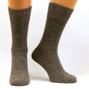 Высокие носки из собачьей шерсти и альпаки. Цвет серый